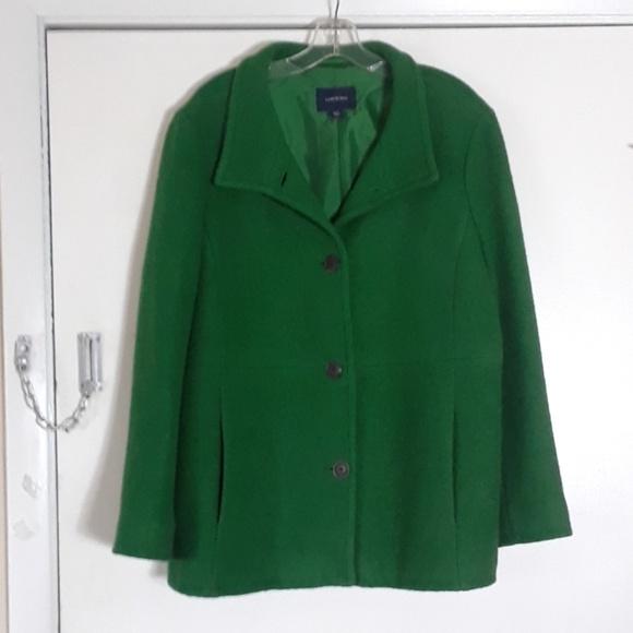 5fbaa569578f0 Lands  End Jackets   Blazers - Lands End Kelly Green Boiled Wool Coat Plus  Sze